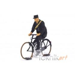 Ciclista H0 Cartero (modelo montado)