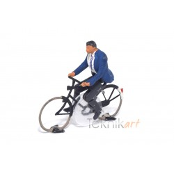 Cyclist H0 Man (Mounted model)