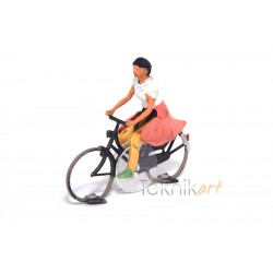 "Cyclist H0 Woman ""3D"" (Mounted model)"