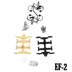 2 bicicletes H0 en Kit
