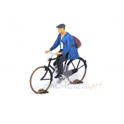 Cyclist H0 Worker (Mounted model)