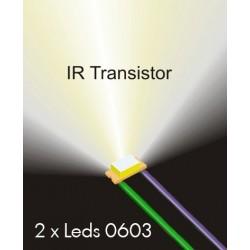 Fototransistors IR 0603 cablejats