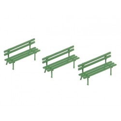 Classic small green bench