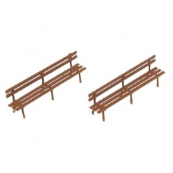 Classic long brown bench