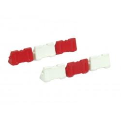 Barreras Jersey de plástico rojas y blancas