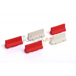 Barreres Jersey de formigó vermelles i blanques