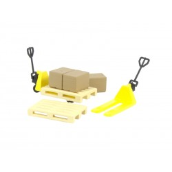 Pack de logística con 2 transpalets amarillos