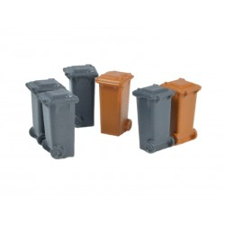 100L Containers gray and brown