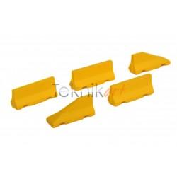 Barreras Jersey de hormigón amarillas con inicios