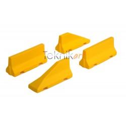 Barreres Jersey de formigó grogues amb inicis