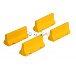 Barreras Jersey de hormigón amarillas