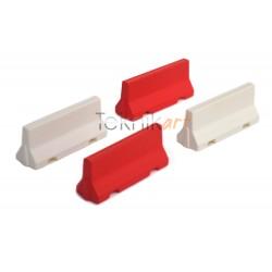 Barreras Jersey de hormigón rojas y blancas