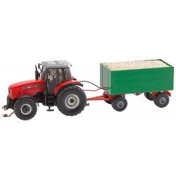 Tractor con remolque alto
