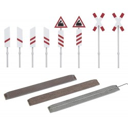 Unprotected level crossing H0 (kit)