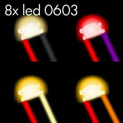 8x Leds 0603 Set